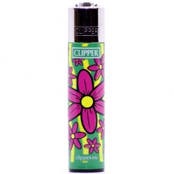clipper classic flowers green/purple ongyujto elol