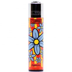 clipper classic flowers orange/blue ongyujto elol