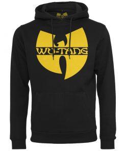 fekete wu-wear kapucnis pulover wu-tang logoval