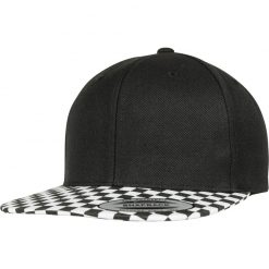 flexfit checkerboard snapback sapka black white 01