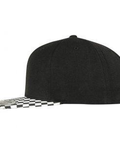flexfit checkerboard snapback sapka black white 02