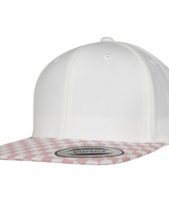 flexfit checkerboard snapback sapka pink white 01