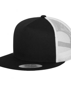 flexfit trucker sapka 2-tone black white 01
