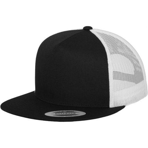 flexfit trucker sapka 2-tone black white 01