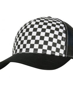 flexfit trucker sapka black white 01