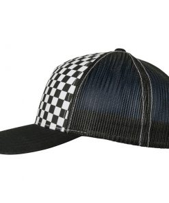 flexfit trucker sapka black white 02