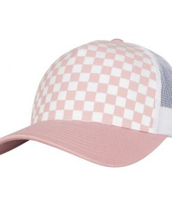 flexfit trucker sapka pink white 01