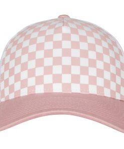 flexfit trucker sapka pink white 03