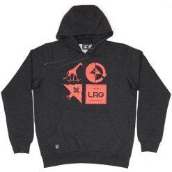 lrg logo mashup kapucnis pulover heather black 01