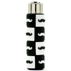 clipper pop cover moustache black white 01