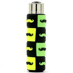 clipper pop cover moustache green black 01