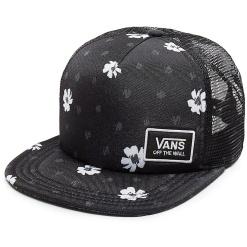 vans beach bound black abstract daisy trucker sapka 01