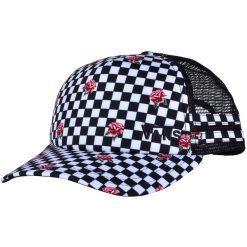 vans ol sport rose checkerboard trucker sapka 01
